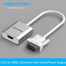 Adaptador de Cabo Conversor com Áudio Vga para Hdmi Marca Vention Conversor Adaptador com Áudio 1080 P Vga Hdmi para PC Portátil Hdtv Projetor