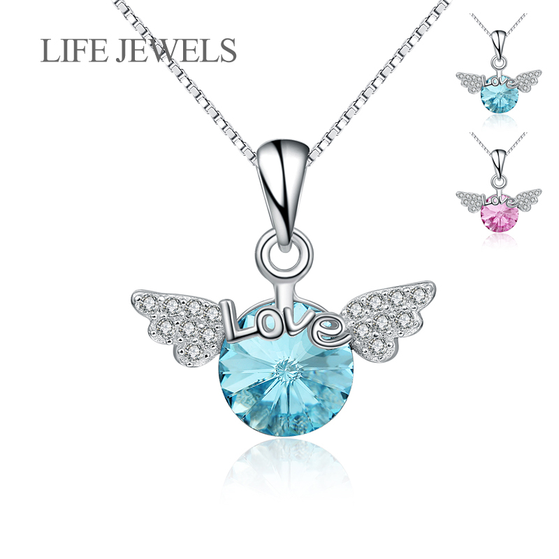 Authentic 100% 925 Sterling Silver Crystal Love Angel Pendants Charm l Women Luxury Valentine's Day Gift Jewelry XLDZ-18121