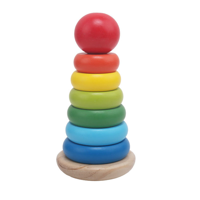 Tower, Wooden, Blocks, Educational, Rainbow, Games