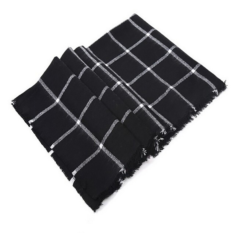 Scarf For Women  Plaid Bufandas Mujer Black Warm Scarf Women Winter Scarves Shawls Stoles Blanket Scarf Luxury Brand