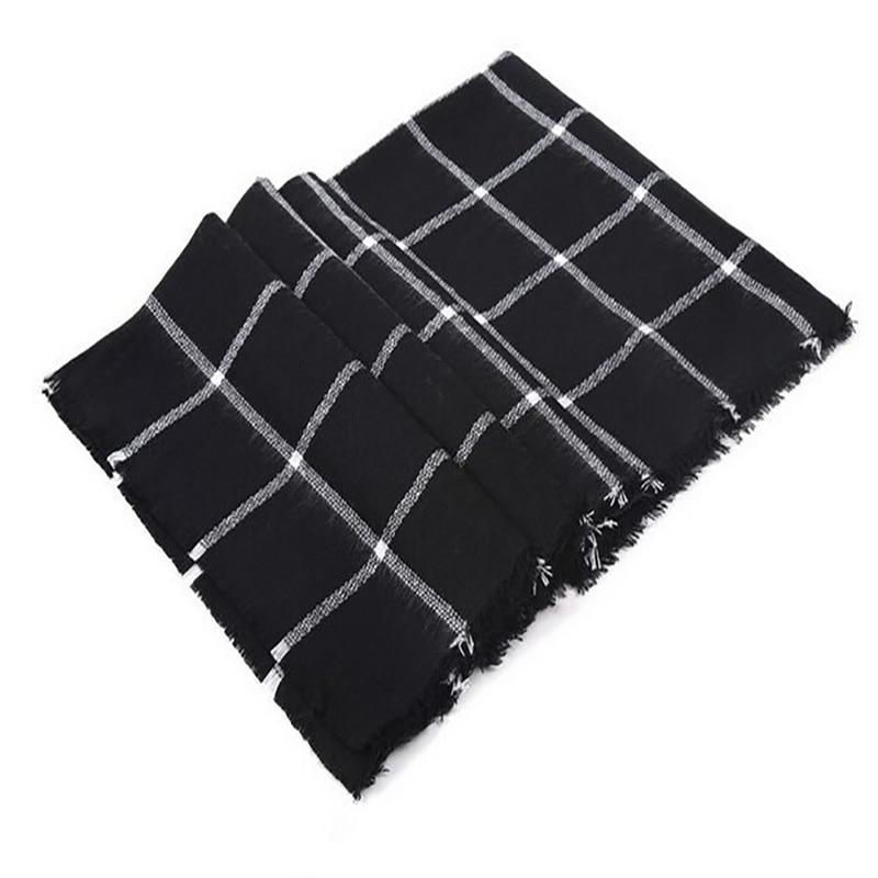 وشاح للنساء منقوشة bufandas موهير أسود دافئ وشاح المرأة الشتاء والأوشحة شالات الشالات بطانية وشاح الفاخرة
