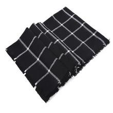 ew Fashion autumn summer winter Scarf black plaid warm women Wrap Shawl scarves