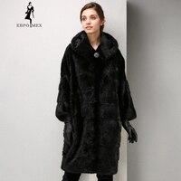 Winter Fashion high grade women mink coat long fur coat Comfortable mink fur coat Mandarin Collar coat