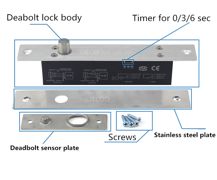 ФОТО NEW Electric Drop Bolt Lock Fail-Safe Door Lock 12V Low Hold Current For Access Control System