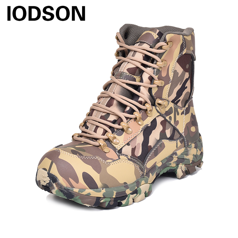Large Size Outdoor Men's Desert Camouflage Military Tactical Boots Combat Army Boots Botas Militares Sapatos Masculino