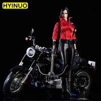 1/6 Scale 18XG17 Female Sexy Motorcycle Girl Sexy Motor Girl Leather Clothes Clothing Set For 12 Figure Female Body Doll Toys