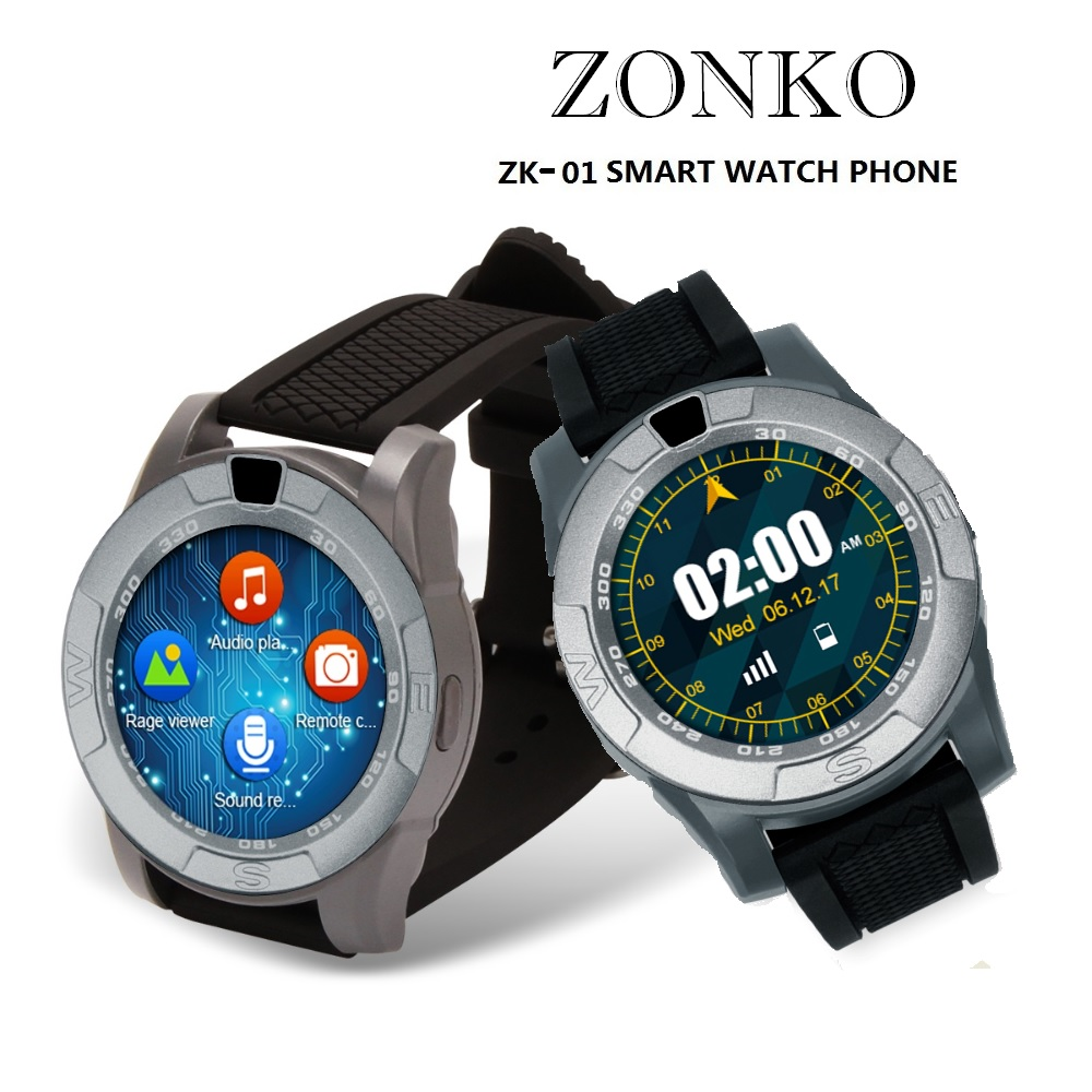 Bluetooth Smart Watch ZONKO ZK01 Android Phone with Touch Screen Camera Passometer Message Reminder Support SIM Card