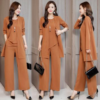 Autumn Two Piece Set Top And Pants Office Lady Loose Tracksuit