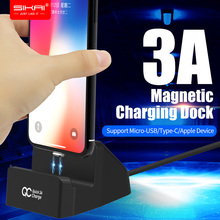 SIKAI Magnetic Desktop Charging Dock Station For iPhone XS X Magnet Docking Station Sync Data USB Charger Charging Holder Stand micro usb data sync charging station w separate battery charger dock for lg g pro 2 black grey