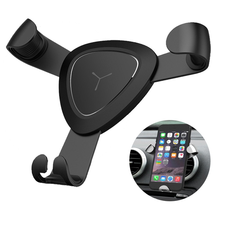Car Phone Holder Universal Gravity Metal Air Vent Mount Car Holder for iPhone X 8 7 Mobile Phone Holder Stands for Samsung mobile phone car vent holder