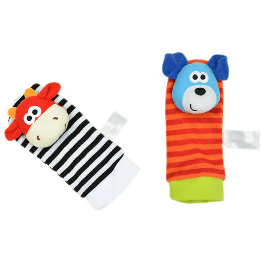 1 Pair Sozzy Infants Cartoon Animals Rattle Toys Foot