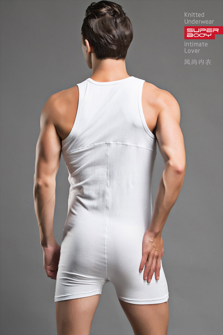 2015-new-arrivel-Men-sexy-Bodywear-Bodysuit-hot-shapers-men-Singlet-male-Sleepwear-button-Cotton-Pajamas (5)