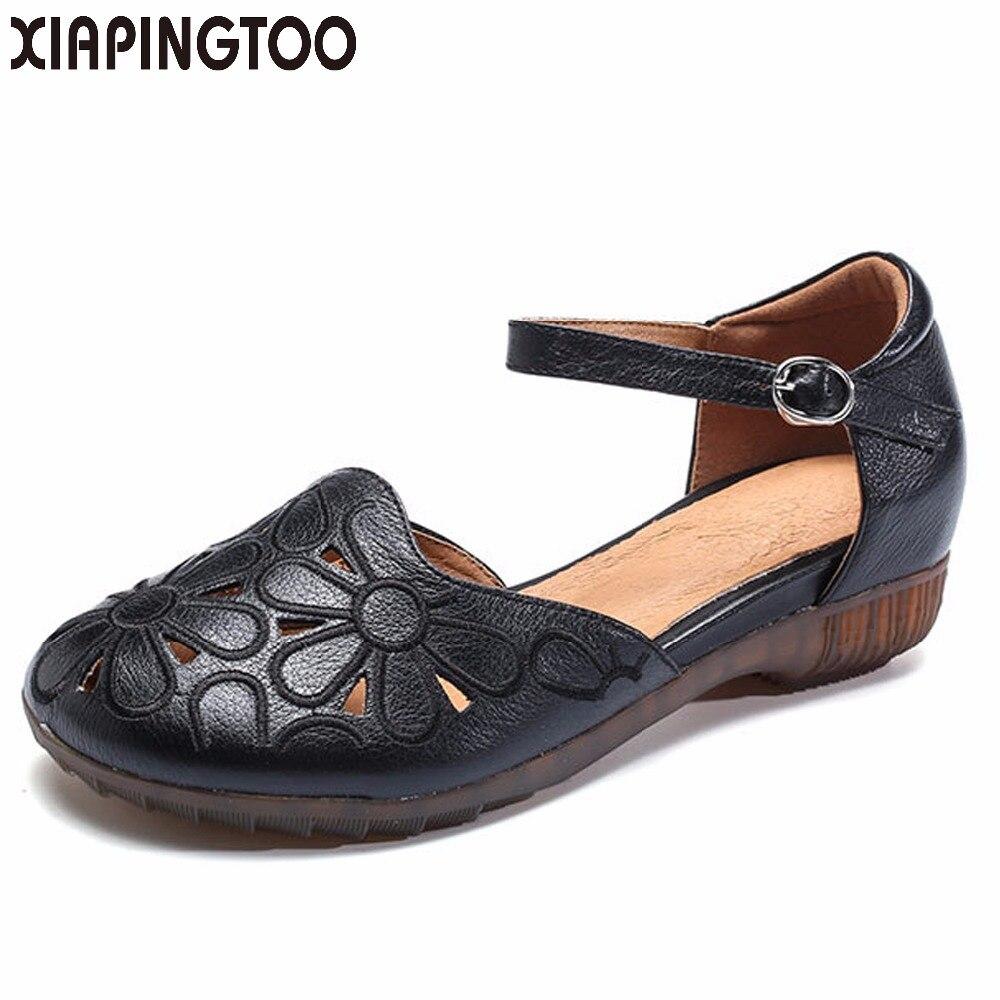 scarpe For Quality Size Rubber 35 35 Rubber Sandalo Cow Nero Donna Pelle   465393