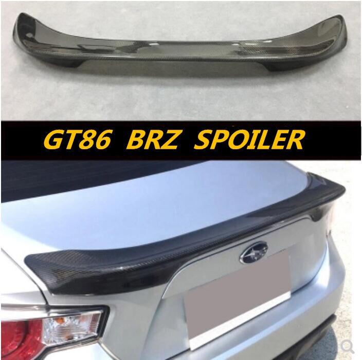 Nouveau aileron de coffre d'aile arrière de voiture en Fiber de carbone/ABS pour Subaru BRZ TOYOTA GT86 2012-2017 rapide par EMS TRD STYLE