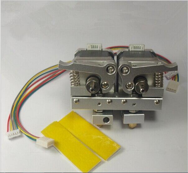3D printer parts Reprap Prusa mendel dual 0.4mm nozzle, 1.75mm filament makerbot Replicator all metal dual extruder kit/set