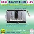 [B136] 7.4 V, 3300 mAH, [4412180] Polímero de iones de litio/batería Li-ion para tablet pc, GPS, mp4, MP3, teléfono móvil, altavoz