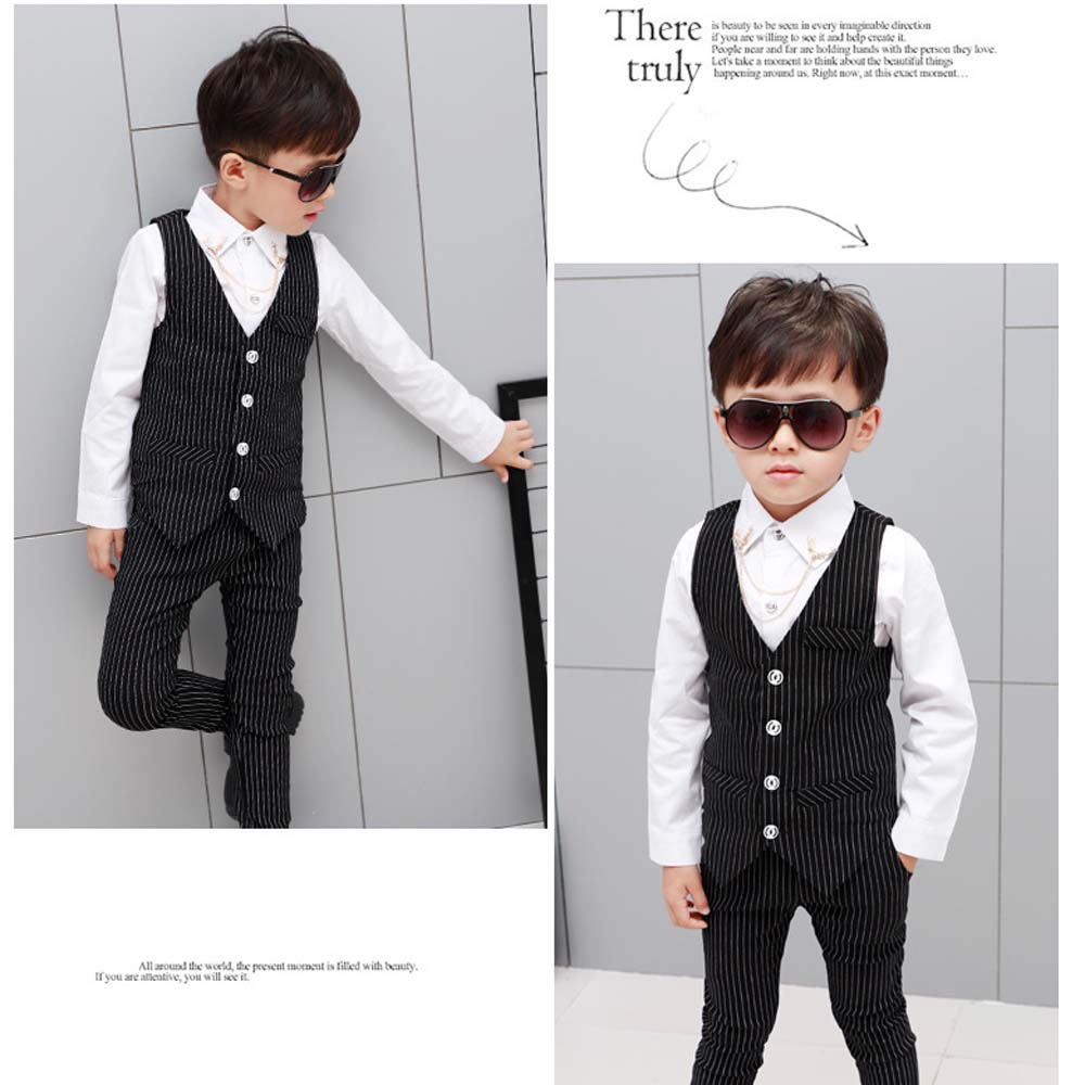 36d1a368d buy best abef0 650e0 3 piecesset baby boys formal blazer suits for ...