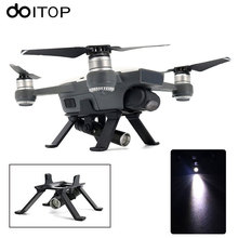 DOITOP Evening Flight Rotatable LED Gentle three.5cm Shock Absorption Touchdown Gear Images Lamp for DJI SPARK Drone Equipment Equipment