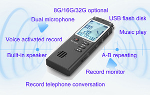 Image 3 - 003 Escytegr Draagbare Dictafoon 1536Kbps Voice Activated Opname Meeting/Lezing/Interview/Trial Music Play Voice Recorder