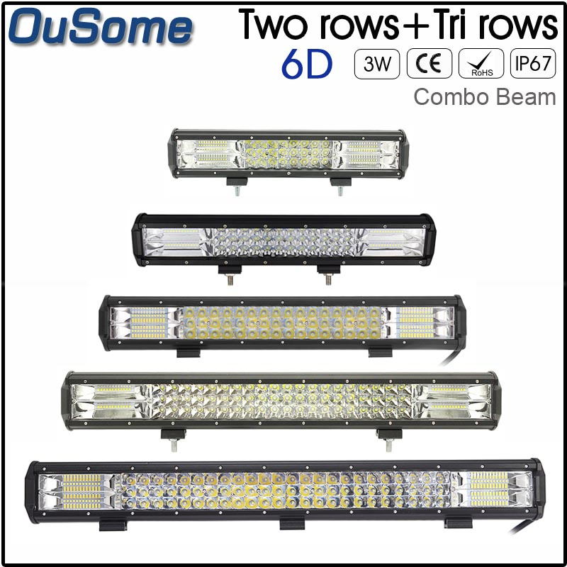 15,17,20,23,26 inch 216,252,288,324,360W LED Work Light LED Bar Light for Motorcycle Tractor Boat Off Road 4WD 4x4 Truck SUV ATV цена 2017