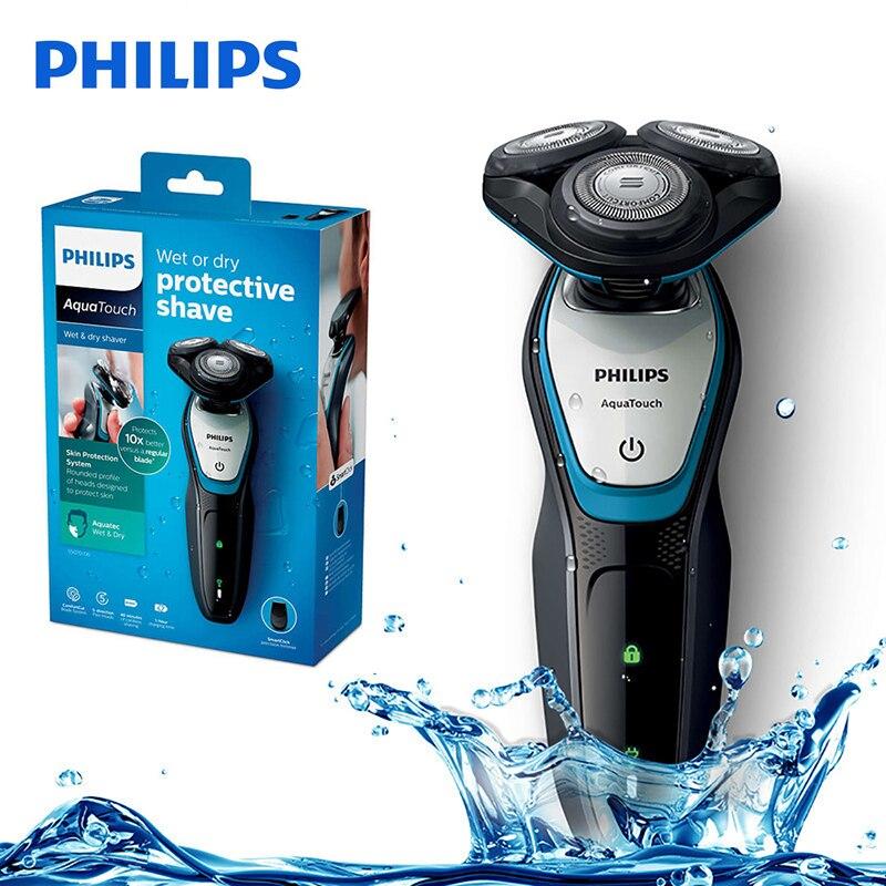 Original Philips S5070 Sistema de Lâmina de Barbeador Elétrico Lavável com ComfortCut Aquatouch 40min Sem Fio para Barbeador Elétrico Dos Homens