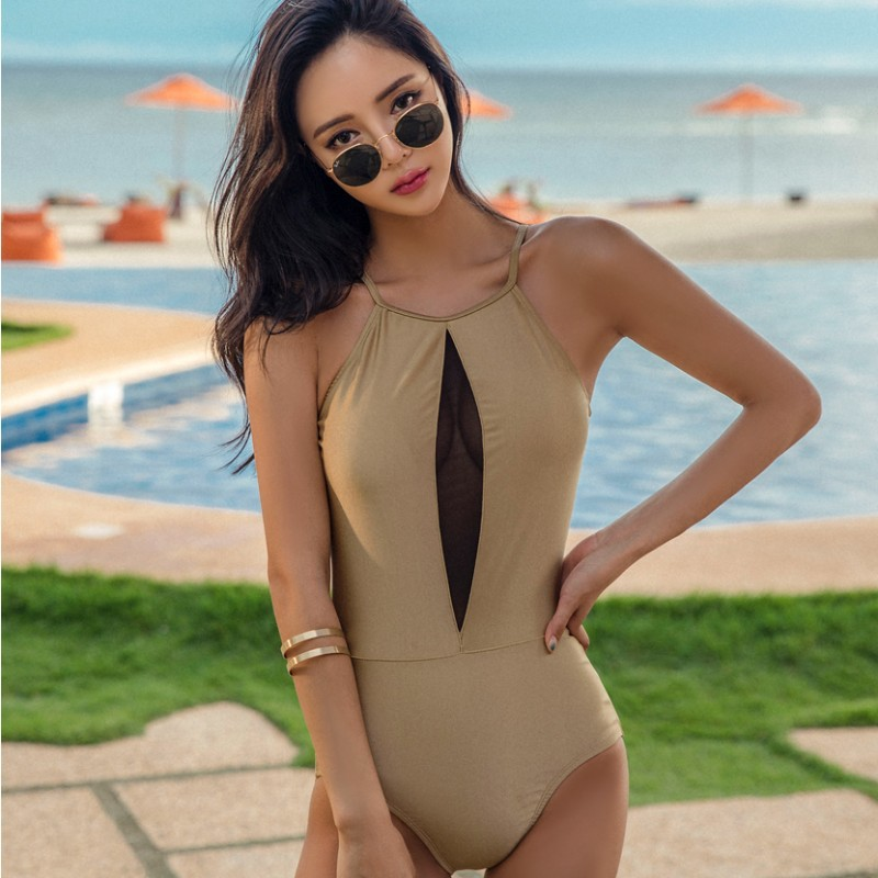 Sexy One Piece Swim Suits Cheap Bathing May Beach Girls Bikinis Women Woman Triangle Over Korean Puzzle Plavky Damy Badpak cheap sexy bathing suits plavky girls bikinis women woman plus size swimwear 2017 17 new korean strapless triangle badpakken
