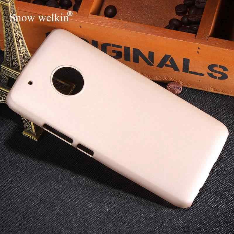 """หรู Rubberized Matte Hard Case พลาสติกสำหรับ Motorola Moto G5 Plus XT1684 XT1685 XT168 5.2 """"โทรศัพท์กลับกรณี"""
