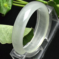 Natural Ice Clear Wrap silk Jade Bracelet Bangle Fashion Wide Jade Bangles Pretty Girl's Gift Jewelry 56-58mm inner diameter