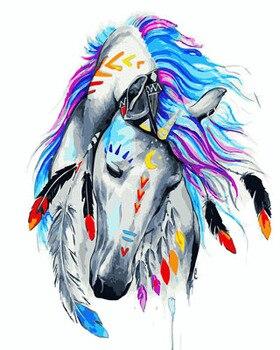 DRAWJOY Pferd Gerahmte Bild Malerei Durch Zahlen Wohnkultur Malerei & Kalligraphie DIY Leinwand Öl Malerei Wand Kunst Einzigartige Geschenk