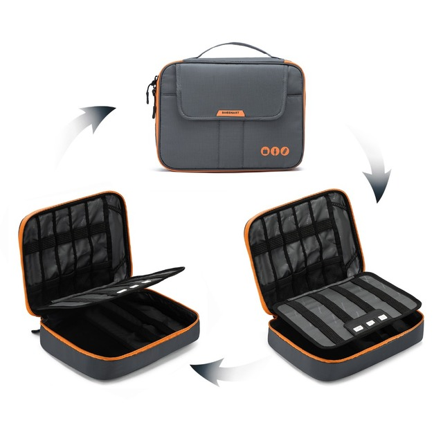BAGSMART Travel Electronic Accessories Bag for Business Trip – Packing Organizer Fit in iPad/Kindle