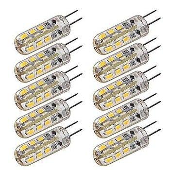 цена на 10x G4 1W 2W 3W 24/48SMD3014 SMD 2835 LED Ampoule Blanc Chaud (2800-3200K) LED bulb light 150-180LM  led light DC12V 360 Degree
