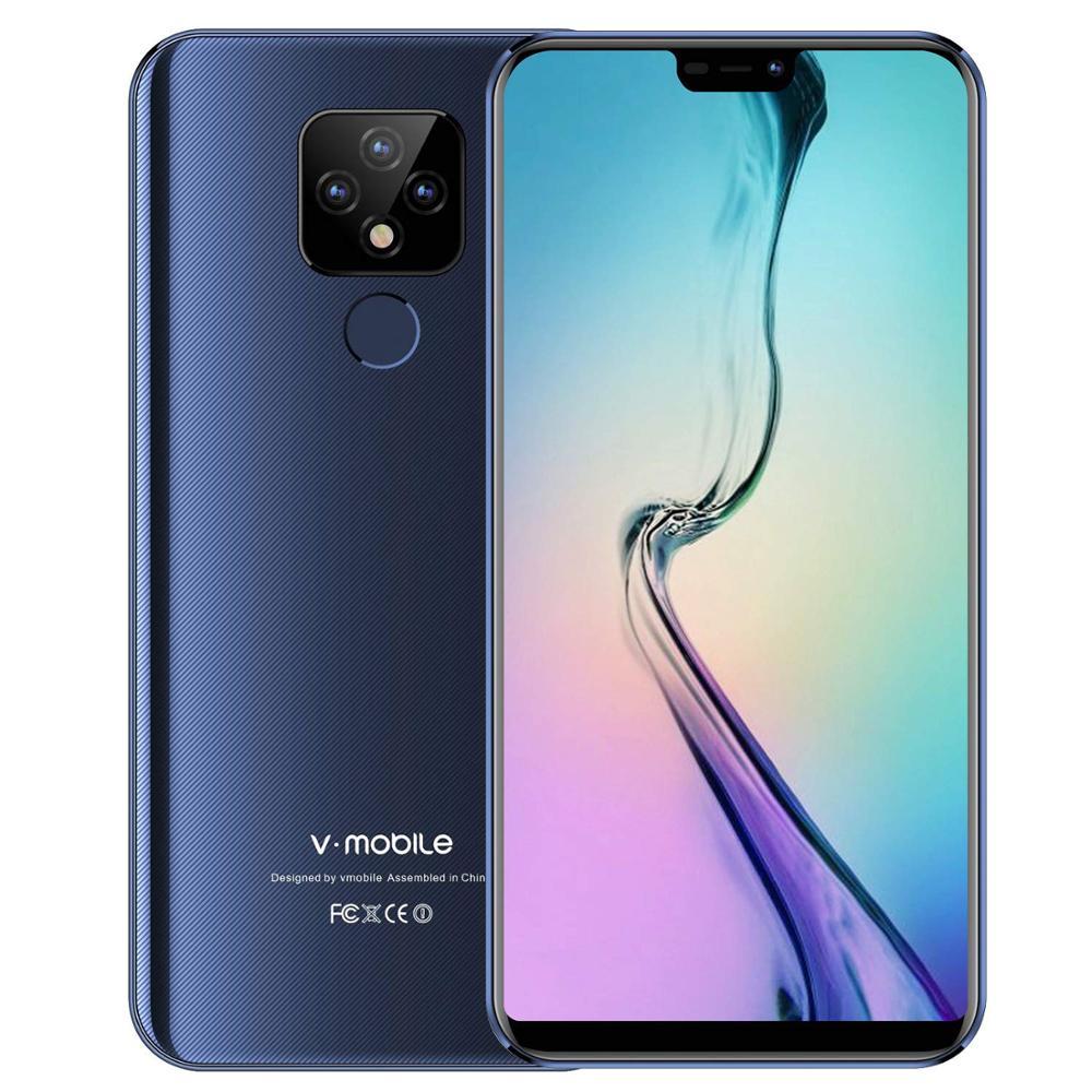 "TEENO Vmobile Mate 20 Mobile Phone Android 7.0 3GB+32GB Fingerprint ID 5.84"" 19:9 HD Screen 4G Smartphone Unlocked Cell Phones"