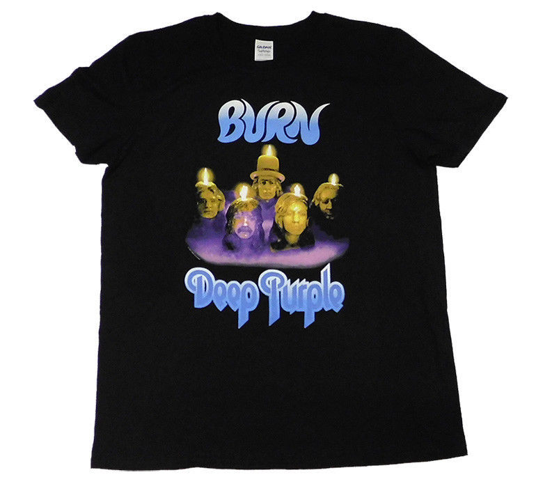 DEEP PURPLE Burn official Fitted Jersey T shirt MEN MEDIUM