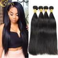 """7A Peruvian Virgin Hair Straight 4Bundles Peruvian Straight Hair 8""""-26"""" Mink Peruvian Hair Weave Bundles Soft Human Hair Weave"""