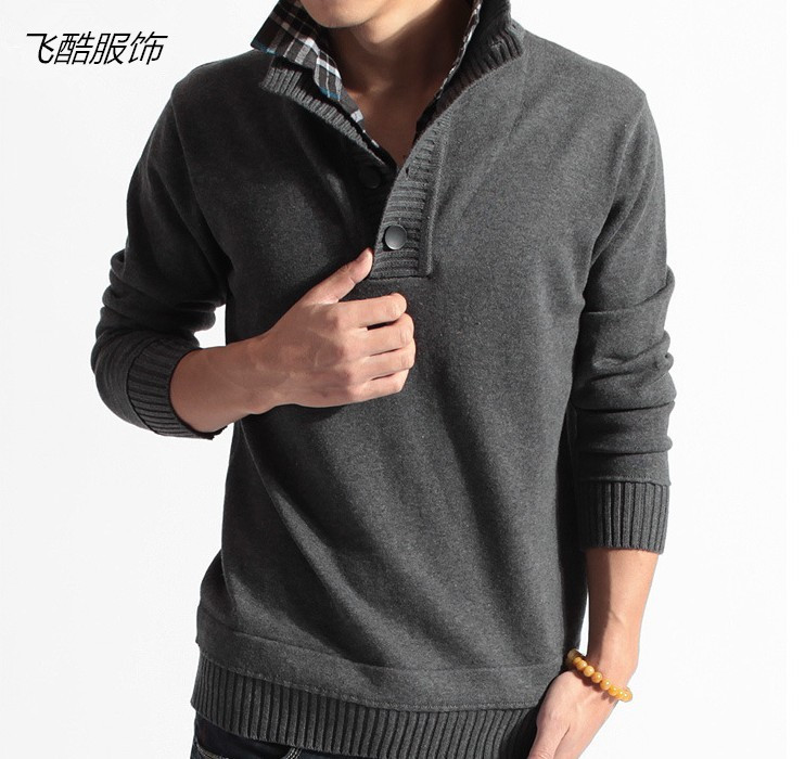 The New 2019 Men's Sweater Off Two Men's Knitted Sweater Male Line Unlined Upper Garment Unlined Upper Garment Of The Shirt