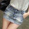 Women Skort Shorts 2017 Summer Fashion Style Sexy Ladies Shorts Skirt Plus Size Mini Skorts Female Womens Short Jeans Feminino