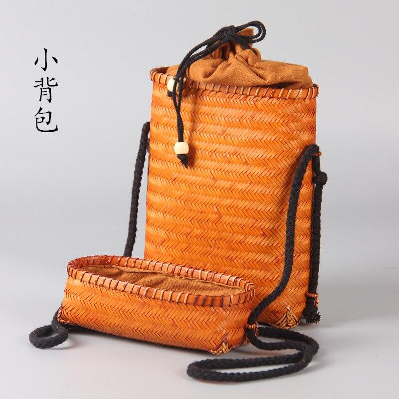 Japanese Bamboo Woven Bag Mobile Wallet Storage Bag Shoulder Bag Hand-woven Retro Art Backpack A4533 japanese bamboo woven bag mobile wallet storage bag shoulder bag hand woven retro art backpack a4533
