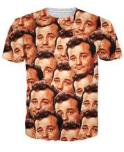 Bill Murray All Over T-Shirt cool tee Fashion Clothing t shirt Summer Unisex Women Men Short Sleeve t shirt Plus S-5XL R799