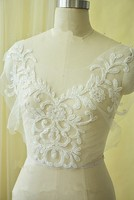 Flower Applique Patch Sequin Crystal Embroidery Lace Fabric Sew On Wedding Dress Decorate Cloth Accessory