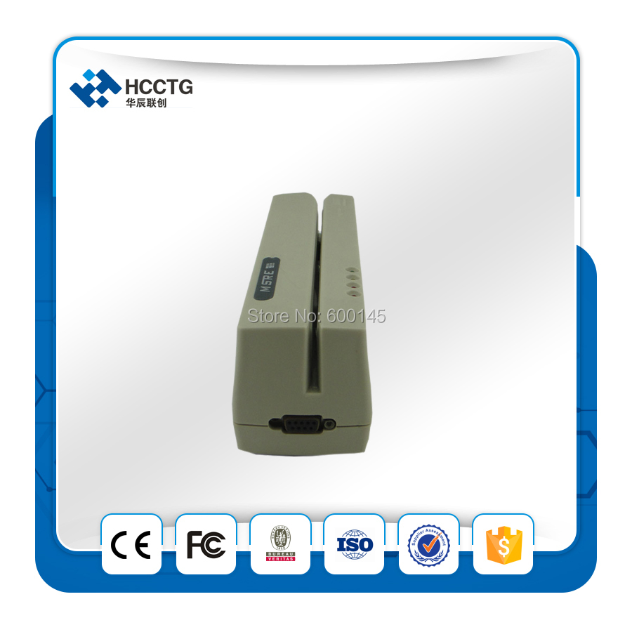 2016 portable mini RS232 Salut/Lo-co 3 Pistes Manuel Intelligent MSR206 usb carte à bande magnétique lecteur écrivain + SDK gratuit-HCC206