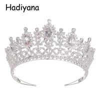 Hadiyana Elegant Cubic Zinconia Tiaras Queen Crowns 2018 Wedding Hair Accessories Women Big Luxury headbands Diadem Crown HG6052