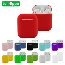LoliHippo Earphones Soft Case Cover for New Air Pods Bluetooth Wireless Earphone Protective Silicone Case for Apple AirPods 1 2(China)