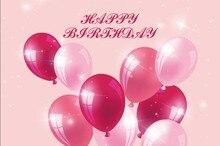 Laeacco Baby Happy Birthday Balloons Shining Scene Party Photography Backgrounds Custom Photographic Backdrops For Photo Studio