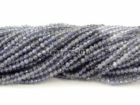 Grade AAA Brilliant Cut Shining Natural Iolite Gems Stones 3mm Faceted Round Beads 15 Jewelry Making 2 Strands/Pack