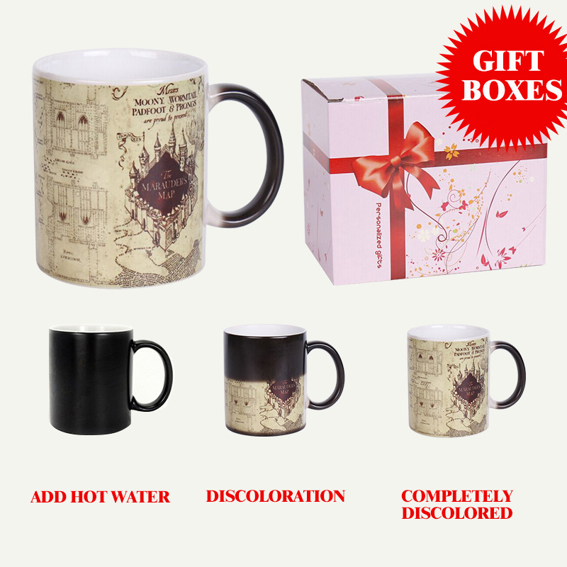 Lekoch Mugs and Cups Color Changing Ceramic Coffee Mug and Cup Fashion Gift Heat Reveal Magic Zombie Mugs for Halloween Day