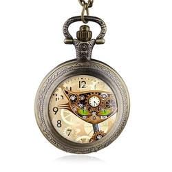 2016 Мода Бронзовый Cat старинные ожерелье карманные часы стимпанк кулон женщины мужчины лучший подарок