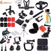 HOMEREALLY Gopro Accessory Set Hand Monopod Case Bag For Gopro Hero5 4 3+ Session Xiao Yi 4K Sj4000 Sj5000 Sj6000 Sj7000 M10 Cam