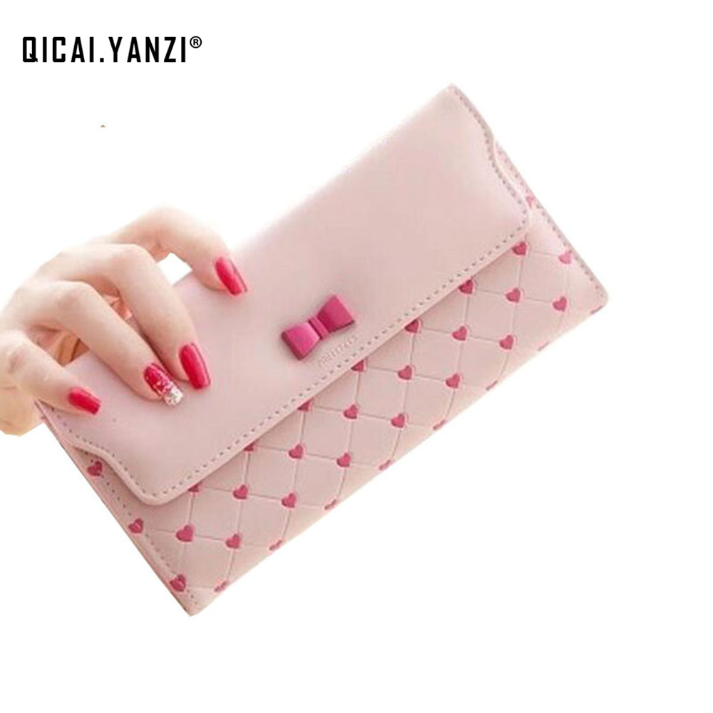 2017 Hot Women Girl Purse Wallet Fashion Long PU Leather Bow Cute ID Card Holders Handbag Wallets High Quality N534 portefeuille guapabien women purse long bow wallets candy color wallet pu thin card holders purse female carteira feminina portefeuille femme