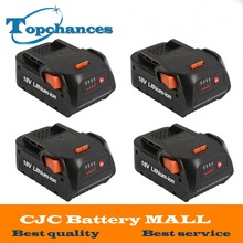 4X High Quality Newest 4000mAh 18V Li-ion Power Tool battery for AEG-RIDGID BFL18 L1815R CS0921 R84008 R840083 AC840084