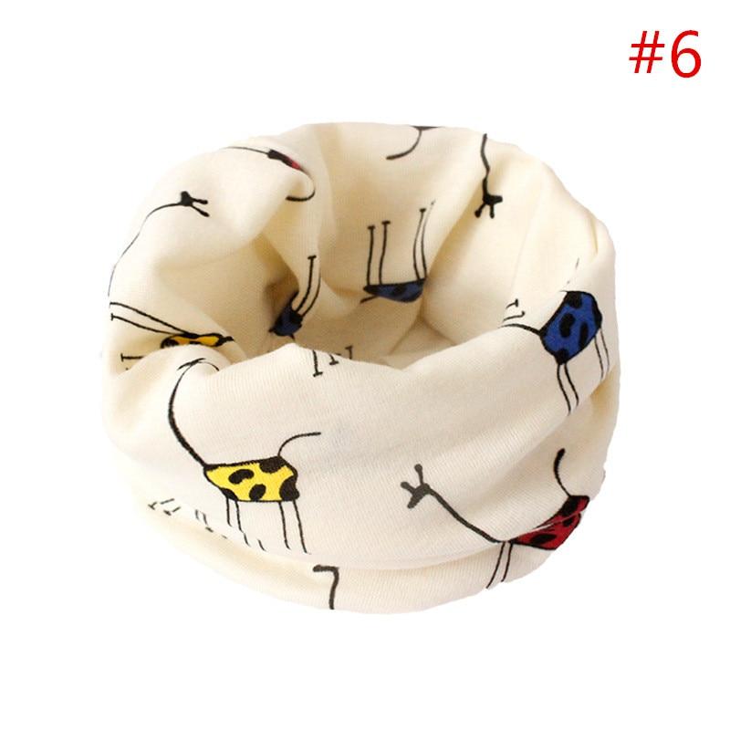 Детский хлопковый шейный шарф с милым принтом; детский теплый шарф; Детские воротники; осенне-зимний шарф-кольцо для мальчиков и девочек; аксессуары для детской одежды - Цвет: No.6